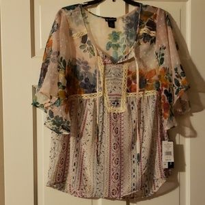 NWT Boho New Directions Top